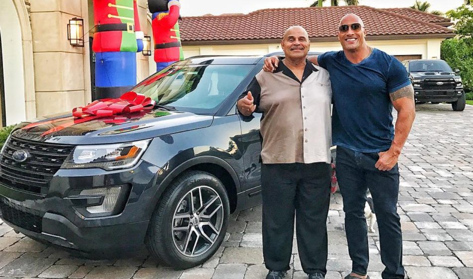 "Dwayne ""The Rock"" Johnson Buys His Dad A Ford Explorer for Christmas"